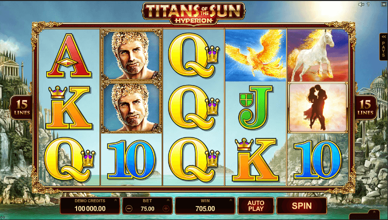 Spiele Titans Of The Sun Hyperion - Video Slots Online