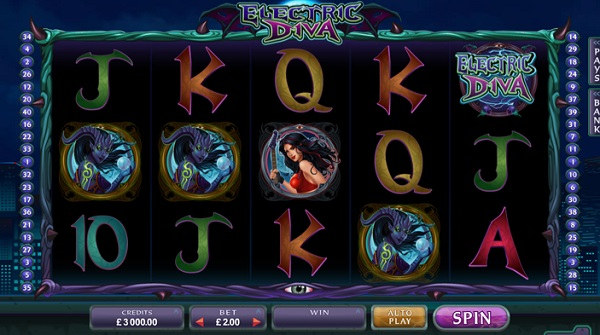 Battle Aliens in the New Microgaming Slot Electric Diva