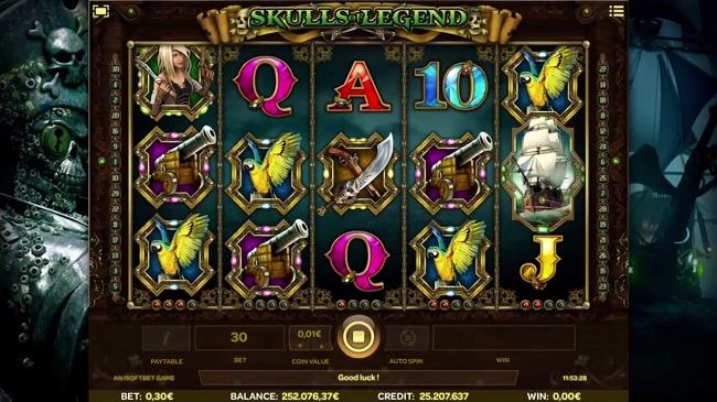 Skulls of Legend Slot Machine - Play for Free Online