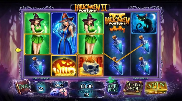 halloween fortune ii mobile slot review