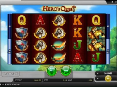 Hero's Quest slot screenshot big
