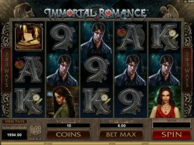 immortal romance slot screenshot big