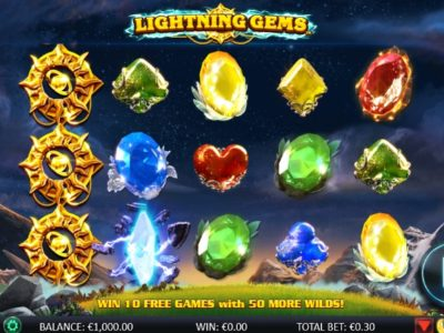Lightning Gems slot screenshot big