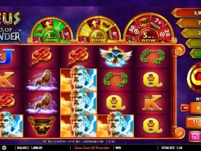Zeus God of Thunder slot screenshot big